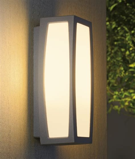Exterior Modern Box Light With Sensor Modern Outdoor Wall Lights
