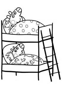 peppa pig coloring pages peppa george sleeping coloringstar