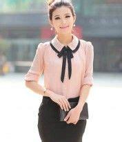 H118559 Atasan Baju Kerja Wanita Contrast Shirt kemeja kerja wanita import cantik toko baju toko baju