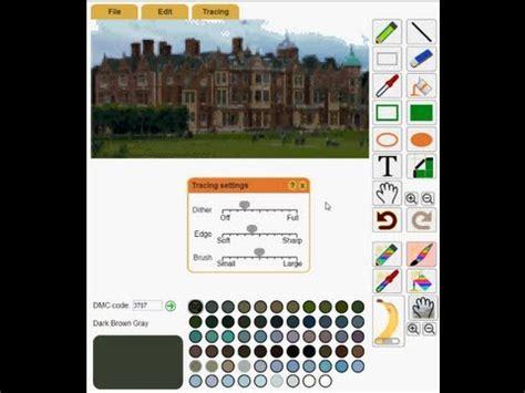 pattern maker for cross stitch youtube making a cross stitch pattern from a photo with pattern