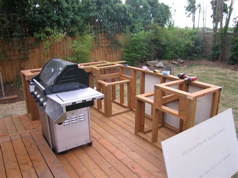 diy outdoor kitchen island outdoor cooking bbq island made simple step 1 framing