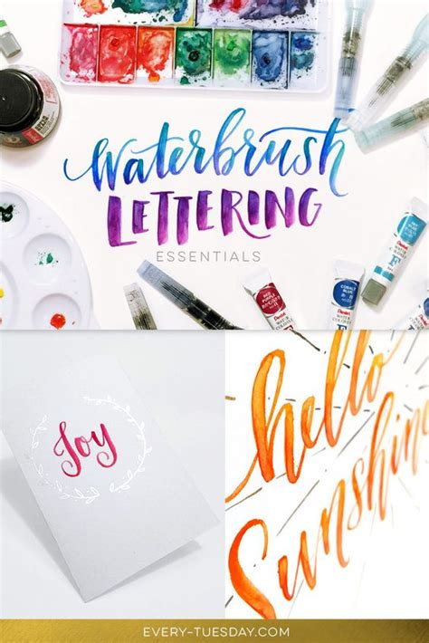 brush lettering tutorial watercolor waterbrush lettering essentials new class paint