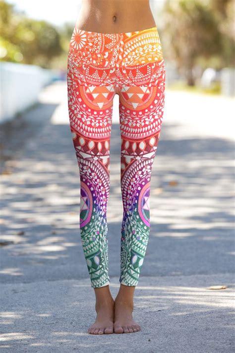 pattern leggings ideas chakra diamonds yoga leggings with a vibrant pattern and