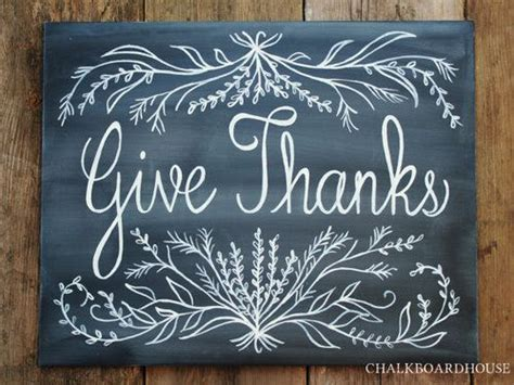 give thanks chalkboard sign for fall blackboard