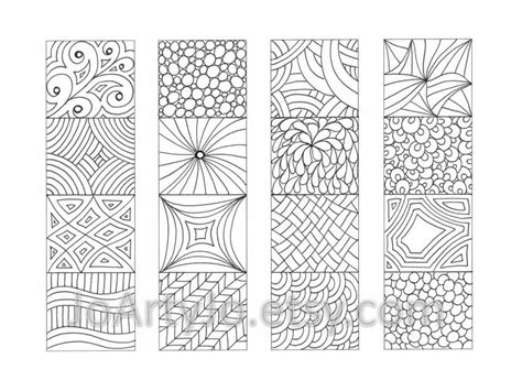 free printable bookmarks you can color color your own bookmarks zentangle inspired printable от