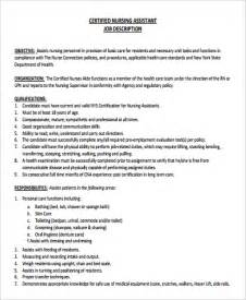 Certified Nursing Assistant Resume Pdf Nursing Assistant Description Home Health Aide Description Resume And Letter