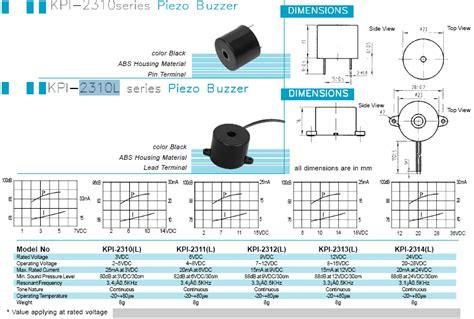 kpi piezo buzzer  generator   package piezo