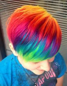 rainbow hair color pictures rainbow hair hurs