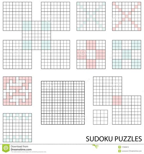 sudoku template sudoku templates stock photography image 17369872