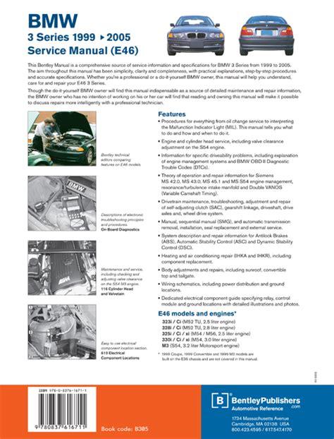 back cover bmw repair manual bmw 7 series e38 1995 2001 bentley publishers repair back cover bmw repair manual bmw 3 series e46 1999 2005 bentley publishers repair