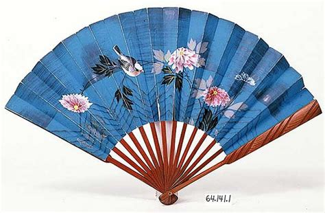 How To Make A Japanese Paper Fan - japanese paper fan museum collections up mnhs org
