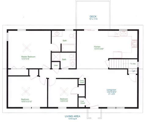 simple ranch house floor plans fresh simple e floor house