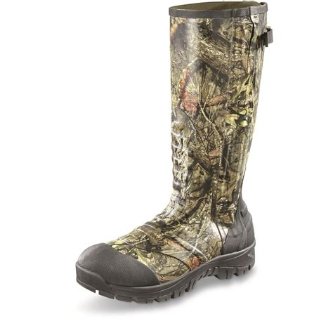 Insulated Rubber Boots by Guide Gear Mens Side Zip Ankle Fit Insulated Rubber Boots