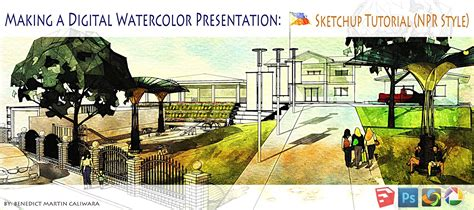L Arch Viz: Making A Digital Watercolor Presentation: Sketchup Tutorial (NPR Style)