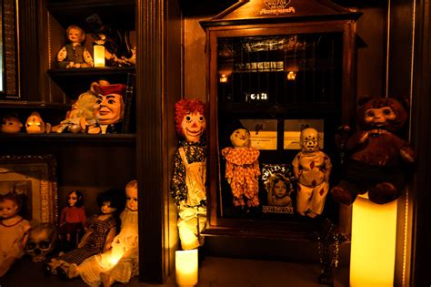 haunted doll on display a visit to zak bagans the haunted museum s crypt