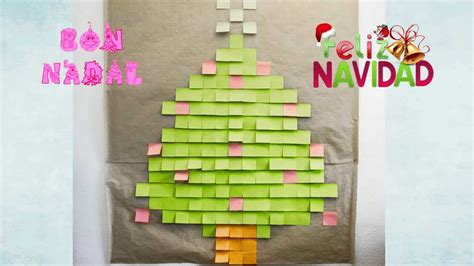 post it christmas tree post it tree 193 rbol de navidad hecho con post it tutorial diy