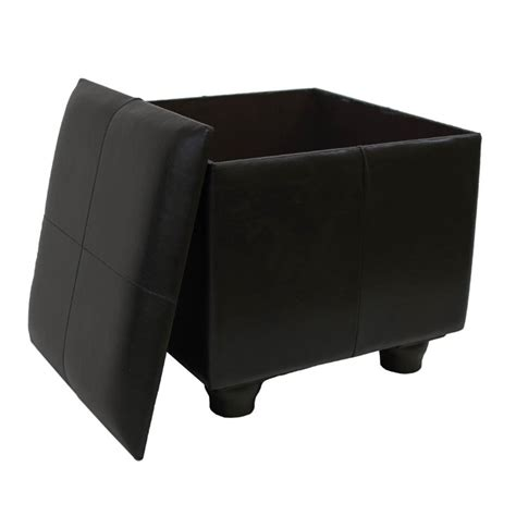 Faux Leather Ottoman Trunk In Chocolate Ywlf 2188 Dc Trunk Ottoman