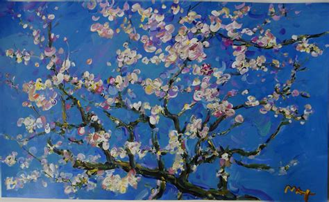 van gogh wallpaper for mac van gogh painting almond blossom blue tree canvas pictures