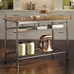 home styles orleans wire rack kitchen island with caramel