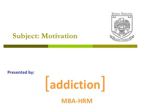 Motivation Assignment Mba by Need Theories In Motivation