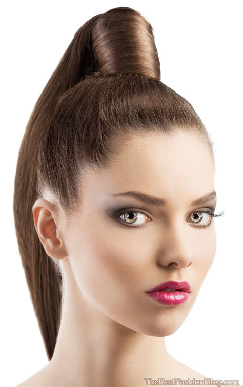 hairlicks popular 2015 ponytail hairstyles even though simple can look glamorous