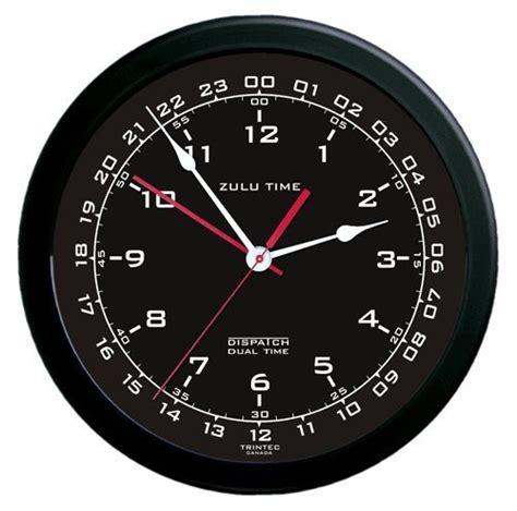 zulu time wall clock white  black mypilotstorecom