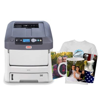 Printer Oki C711wt laser printer with white toner producted vision digital printing co itd
