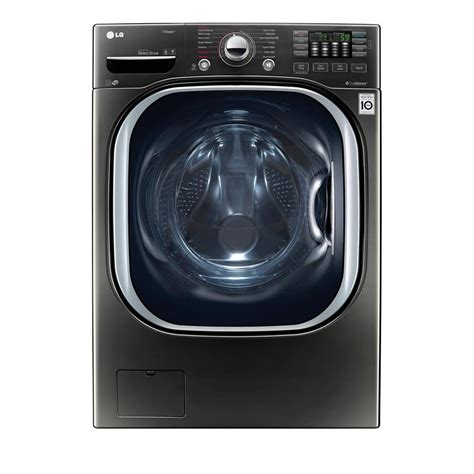 LG Electronics 4.5 cu. ft. High Efficiency Front Load Washer with Steam and TurboWash in Black