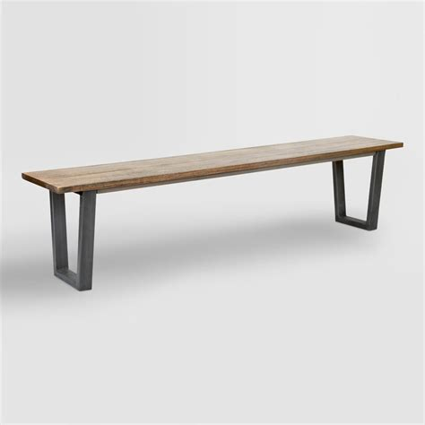 metal dining bench wood and metal ryley dining bench world market