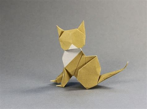 Kitten Origami - origami cat cats