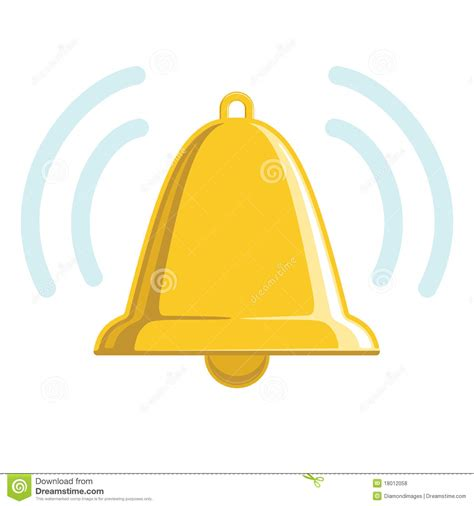 Sound Bell Up chiming golden bell royalty free stock photos image