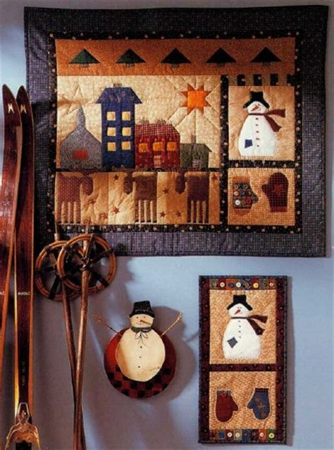 free pattern wall hanging quilt folk art yuletide quilted wall hanging pattern howstuffworks