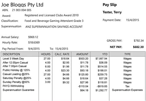 nsw payslip template payslip inquiry pdf