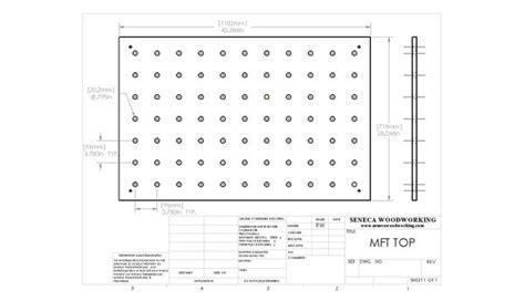 Replacement Mft Top Cad Drawings Seneca Woodworking Festool Mft Top Template