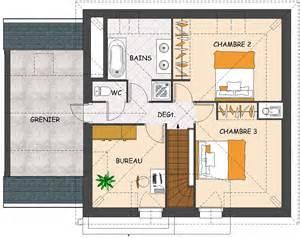 plan de a etage maison moderne