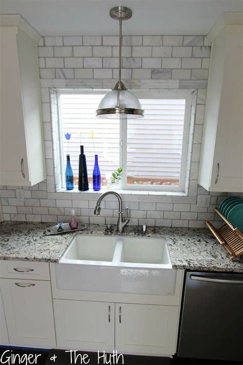 Hometalk   DIY Hampton Carrara Polished Kitchen Backsplash