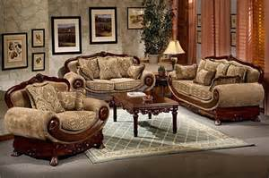 traditional sofa sets light brown chenille traditional sofa w optional items