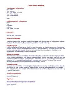 Cover Letter For A Template by Cover Letter Sles