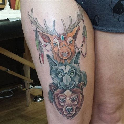spirit animal tattoos animal totem pole tattoos ps