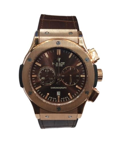 Hublot Classic Rosegold Brown Leather buy suits and accessories fashion designs for