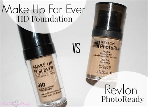 Revlon Hd Foundation revlon photoready foundation vs make up for hd