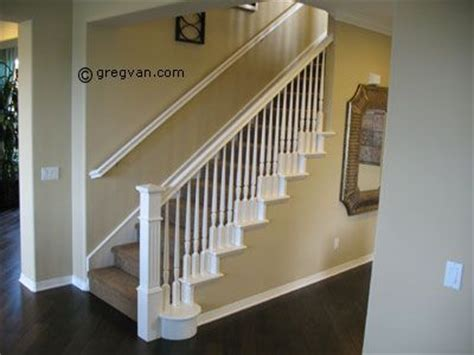 White Banister Rail by Painted Stair Handrail All White Home Improvement