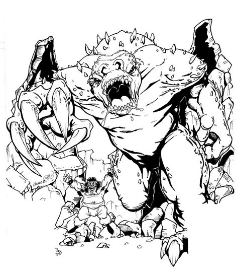 rancor coloring pages rancor tooth 3 by darthzemog on deviantart