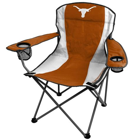 ncaa premium longhorn chair 2 cup holders home