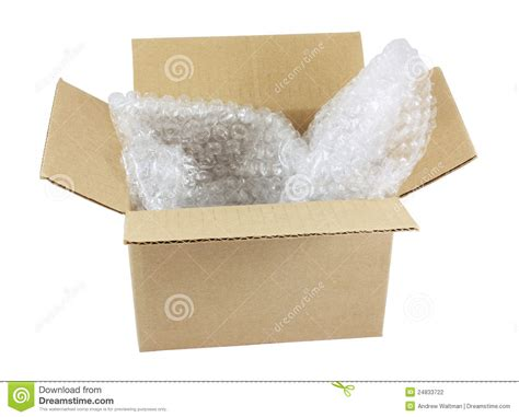 Packing Buble open box with wrap stock photography image 24833722