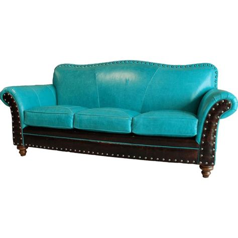 Turquoise Sofas Midcentury Family Room With Striking Couch Turquoise Sectional Sofa