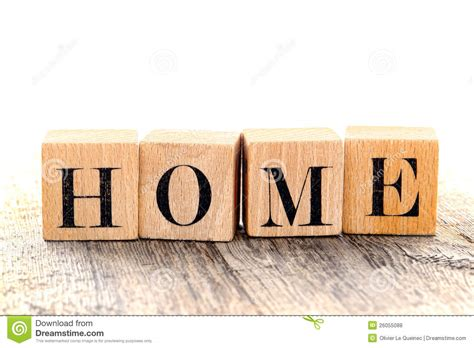 Home Letters word home spelled in vintage alphabet block letter royalty
