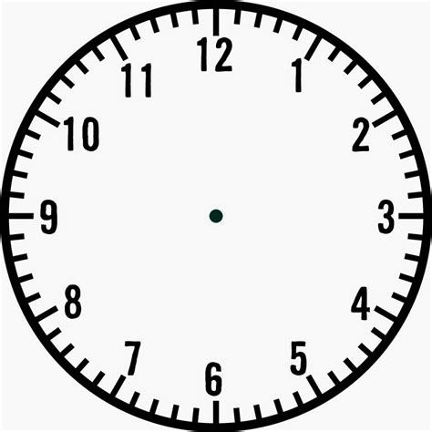 Clock Template by Blank Clock Faces Templates Activity Shelter