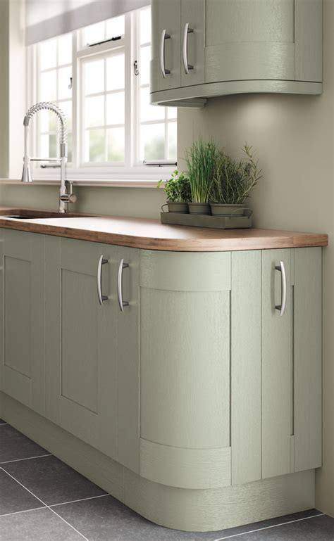 How To Paint Kitchen Cabinets by Fairford Painted Sage Green Pebble Kitchens