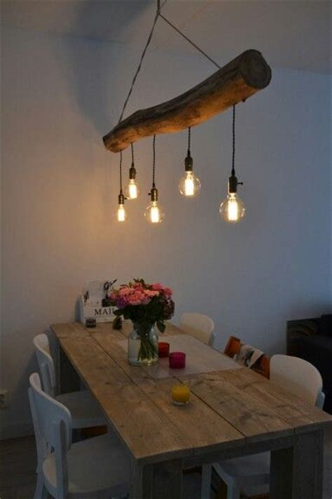 led dining room lighting wooden tree trunk l and dinner my own stuff